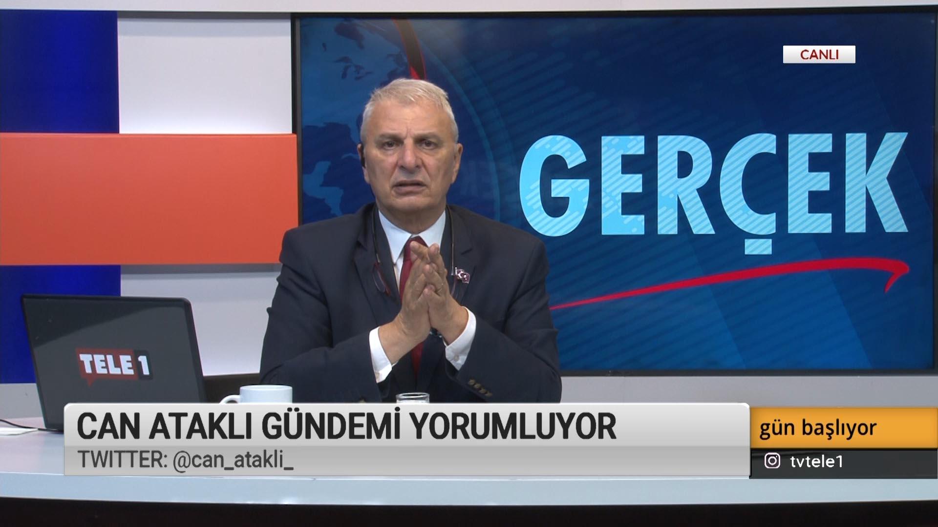 """Tele1 programcısı yazar Can Ataklı """"Her şeyden korkan bir muhalefetimiz var!"""""""