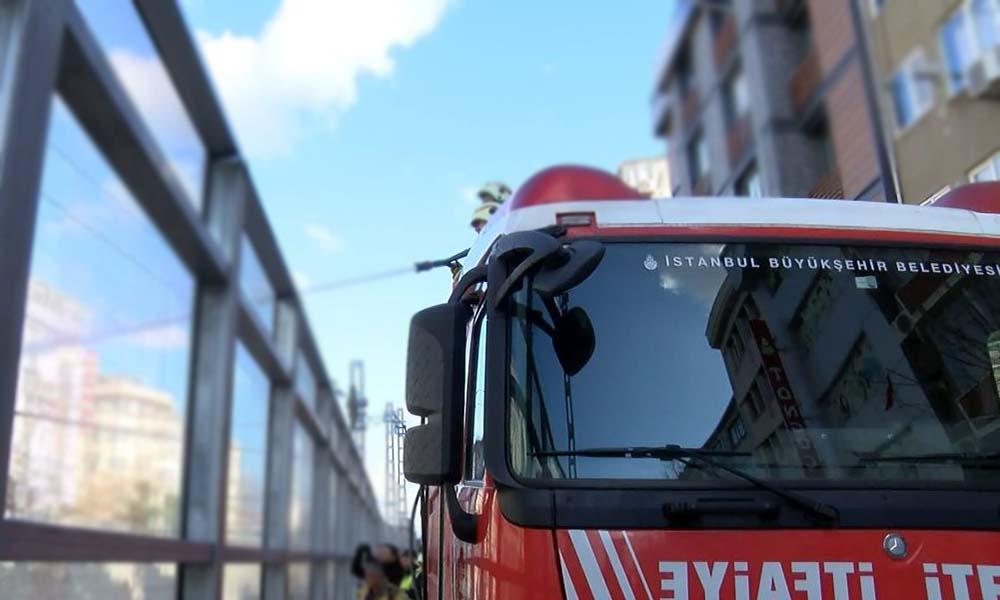 Bakırköy Marmaray durağı yakınında yangın