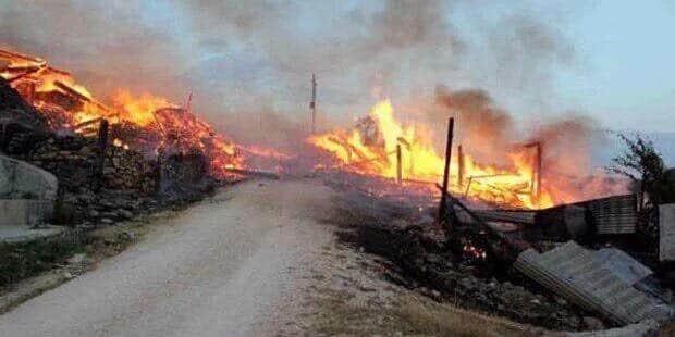 Lice'de büyük yangın! Vatandaşlar sosyal medyadan yardım çağrısında bulunuyor