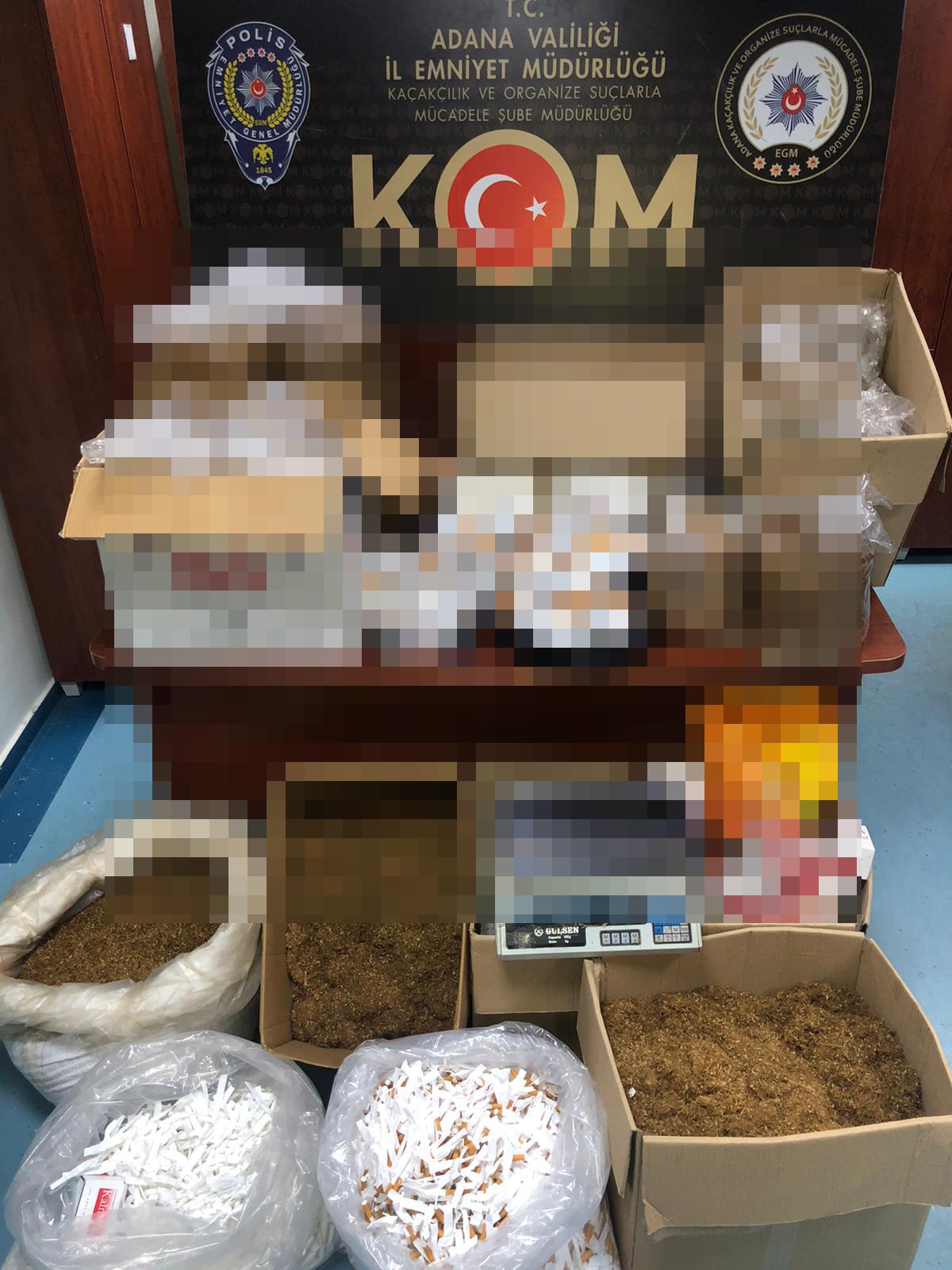 Adana'da 'kaçak tütün' operasyonu: 3 gözaltı
