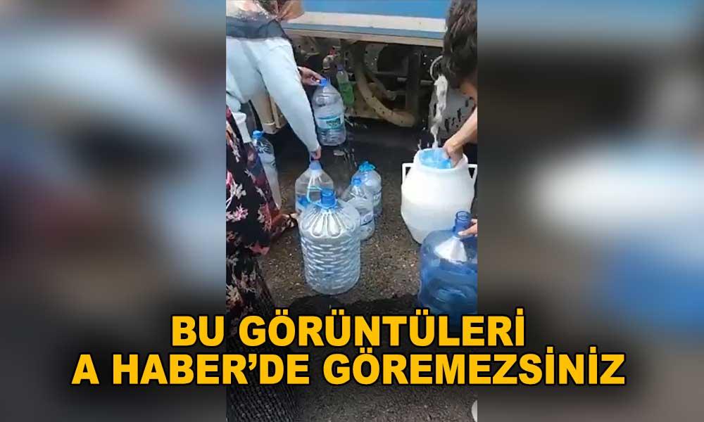 AKP'li belediye vatandaşa günlerce su vermedi! Tankerle su dağıttı