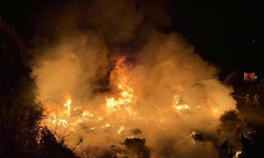 İstanbul'da ormanlık alandaki depoda korkutan yangın!