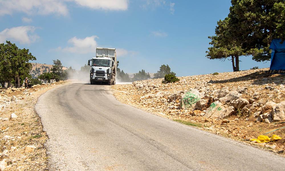 Mut'ta 24.3 kilometrelik asfalt çalışması