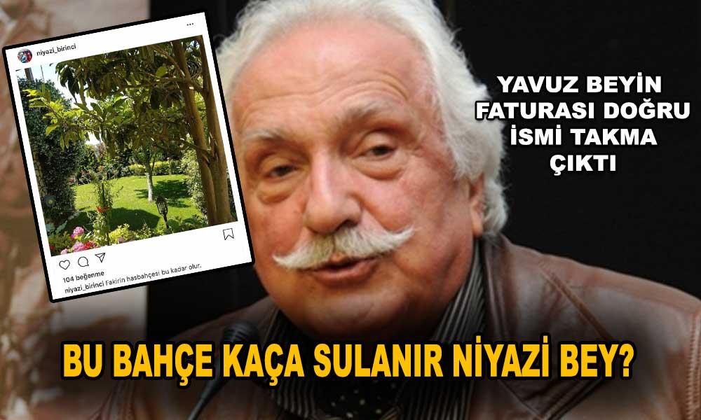Bu da yandaş Yavuz Bahadıroğlu'nun fatura oyunu