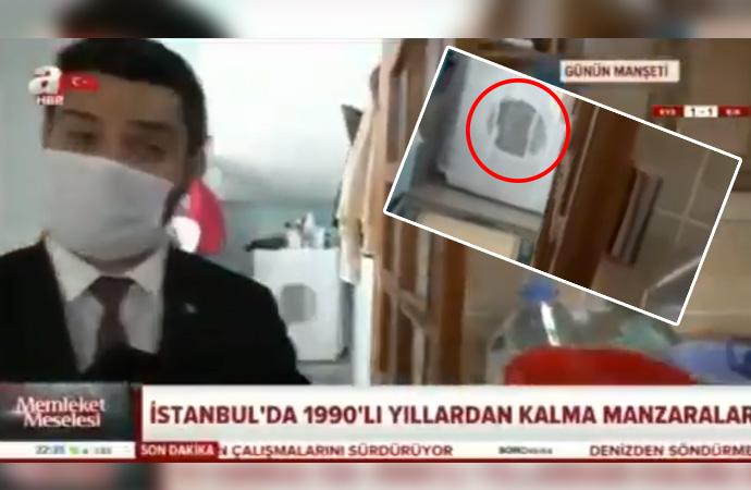 Yandaş A Haber'in İBB'ye kurmak istediği su kumpasını kendi kameraları çürüttü