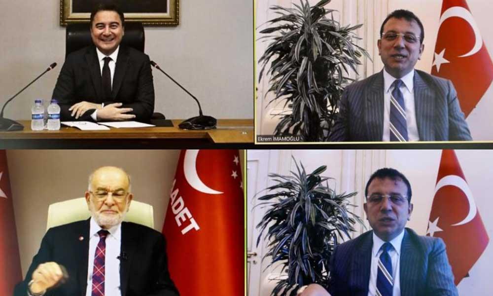 """İmamoğlu'ndan, Babacan ve Karamollaoğlu'na 'Kanal İstanbul"""" sunumu"""