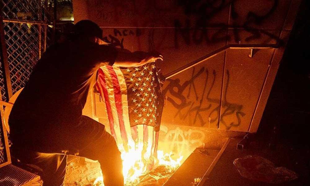 ABD'de mahkeme binası ateşe verildi