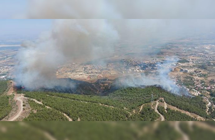 Amanoslar'da orman yangını!