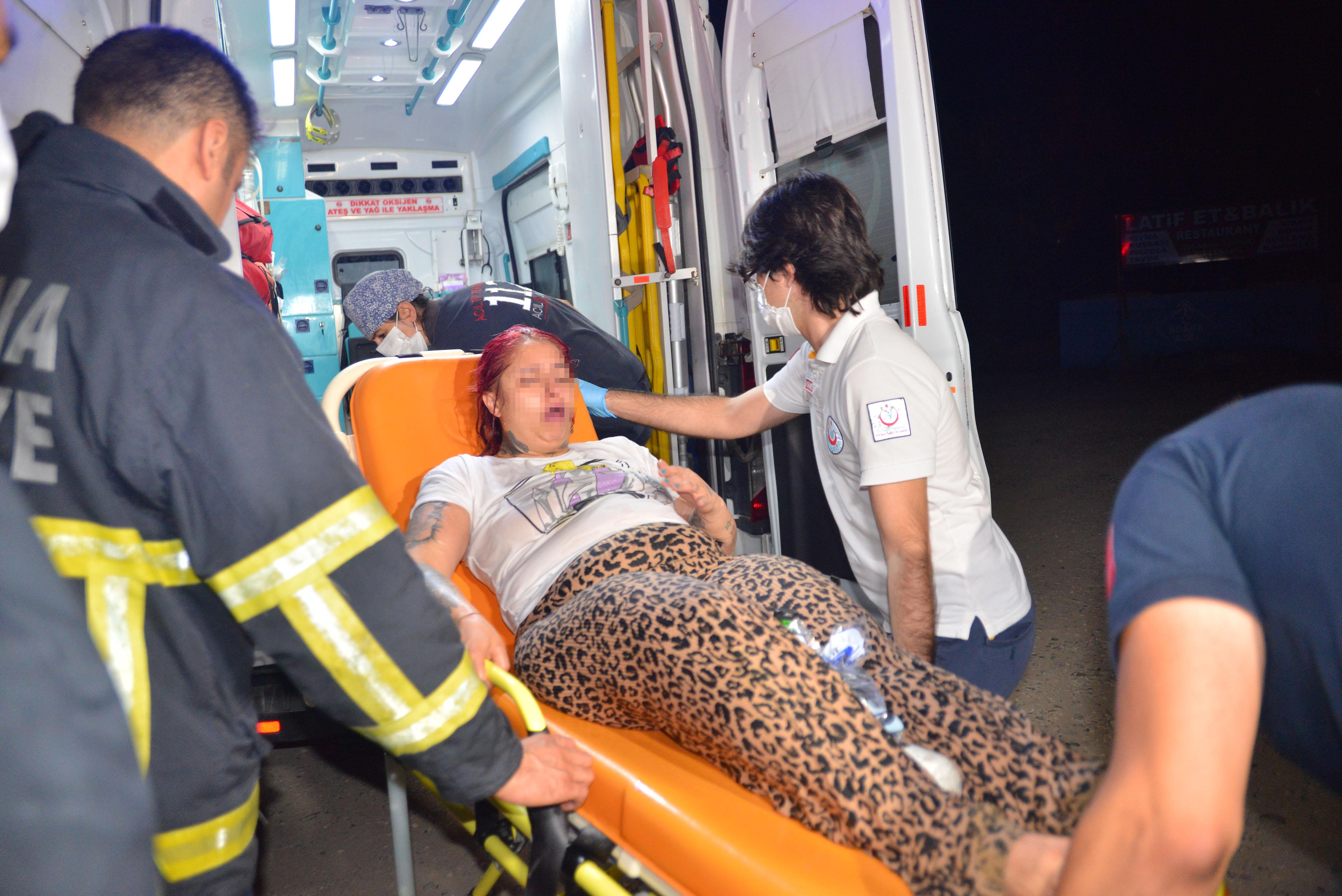 Baraj gölüne atlayan kadın, can simidi ile kurtarıldı
