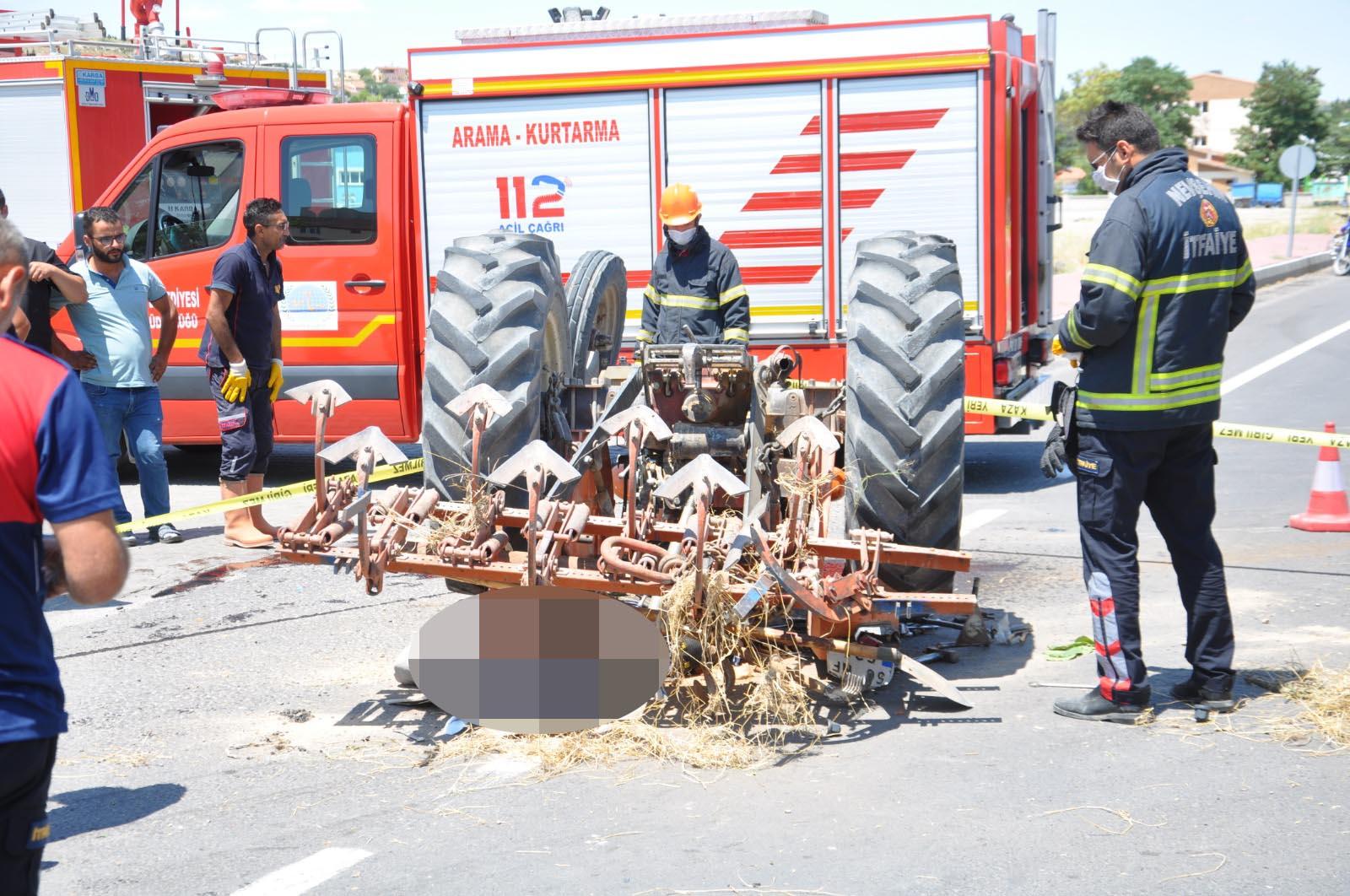 Nevşehir'de TIR traktöre çarptı: 1 ölü