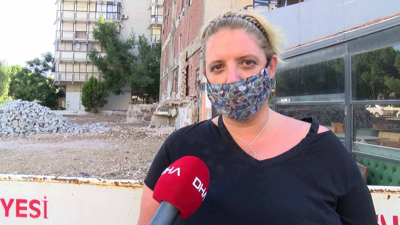 Eğik binaların ev sahiplerinden belediyeye tepki