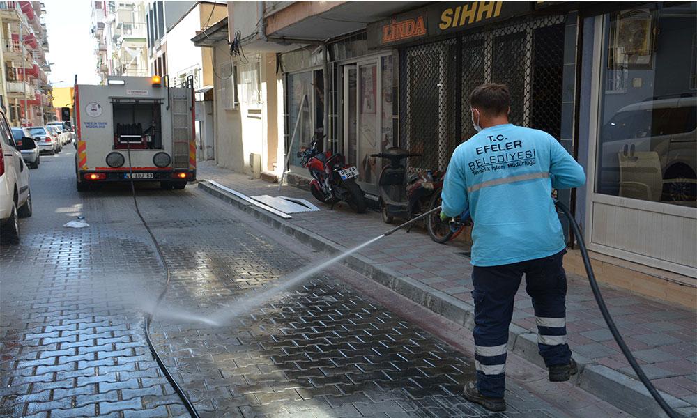 Efeler Belediyesi tedbiri elden bırakmıyor