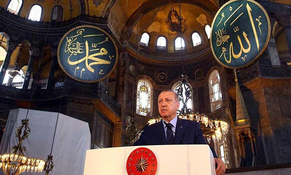 Kendi kararnamesi ve atadığı Danıştay üyeleri ile ibadete açtı, karar Türk Milleti'nin dedi