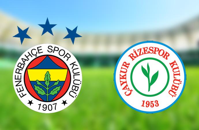 Fenerbahçe kazandı Rizespor lige tutundu!