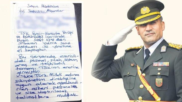 FETÖ'cü Albayın el yazısıyla darbe talimatı!