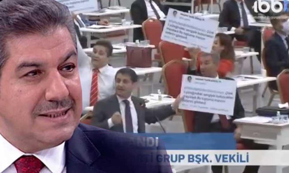İBB Meclisi'nde Tevfik Göksu'ya pankartlı protesto: Bakın kendini nasıl savundu