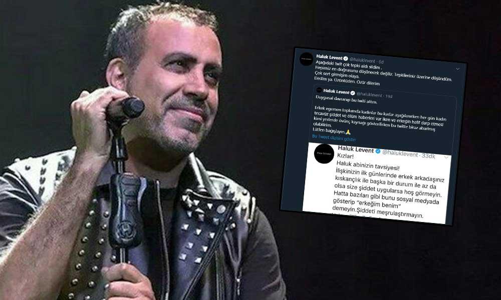 Haluk Levent kadınlara hitaben yazdığı tweet'i sildi ve özür diledi