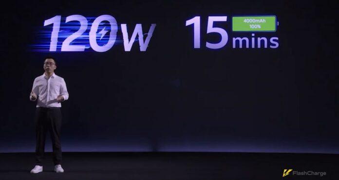 120W FlashCharge özelliği ile 15 dakikada şarjlar dolacak