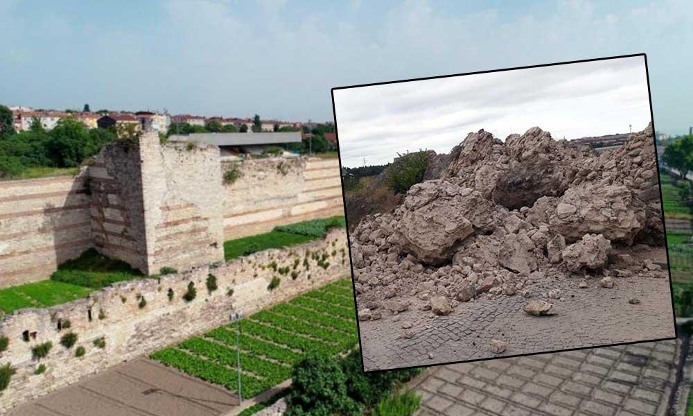 Tarihi surlar yıkıldı! İBB'den açıklama