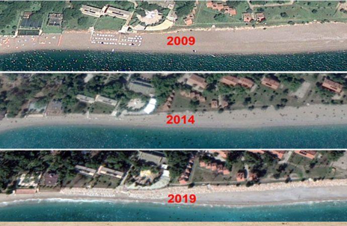 Konyaaltı Sahili 60 yılda 35 metre geriledi!
