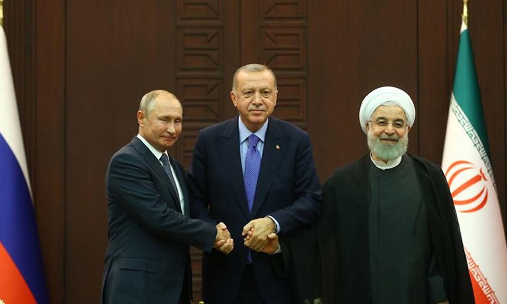 Kritik görüşme sona erdi! Erdoğan, Putin ve Ruhani'den ortak bildiri