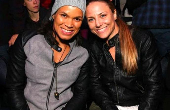 İlk eşcinsel şampiyon Amanda Nunes, 8 aylık hamile eşiyle boks antrenmanı yaptı