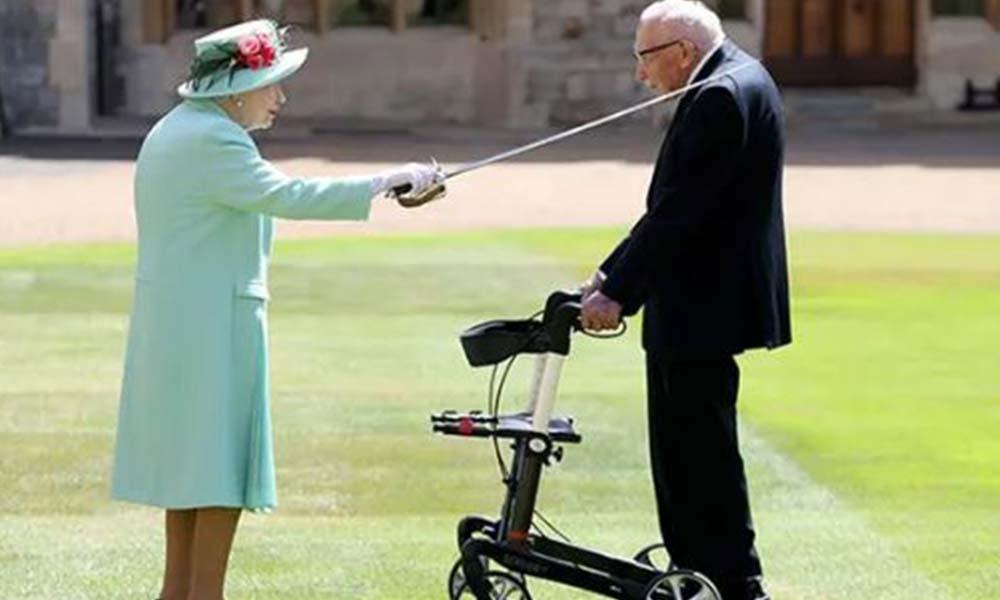 100 yaşında şövalye oldu
