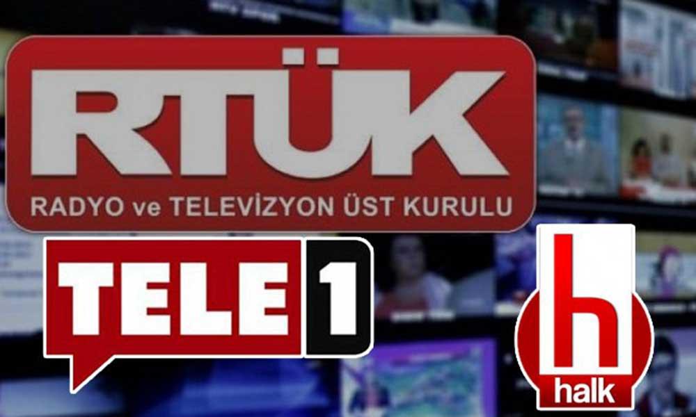 Tele1 TV ve Halk TV'ye ekran karartma cezasına tepki yağıyor