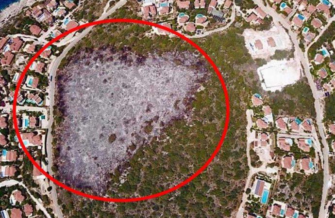 'Tam otellik yanan' arazi bakın kime ait çıktı?