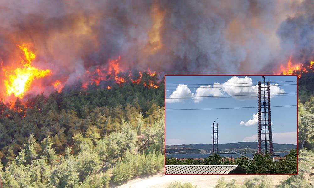 Köprünün ayakları tamamlandı, Gelibolu'da orman yangınları başladı!