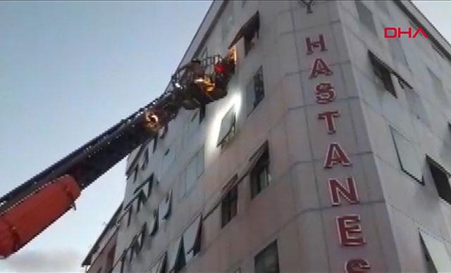Esenler'de hastanede yangın