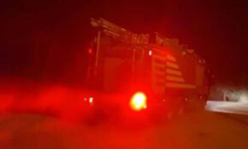 Ankara'da, atık kağıt deposunda yangın