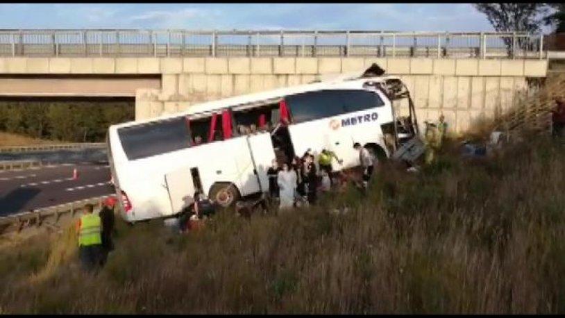 Metro Turizm otobüsü kaza yaptı: Beş kişi hayatını kaybetti