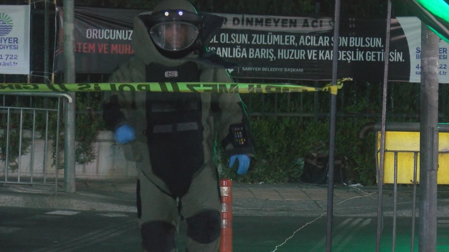 Sarıyer'de Hacıosman Metro durağında şüpheli paket alarmı