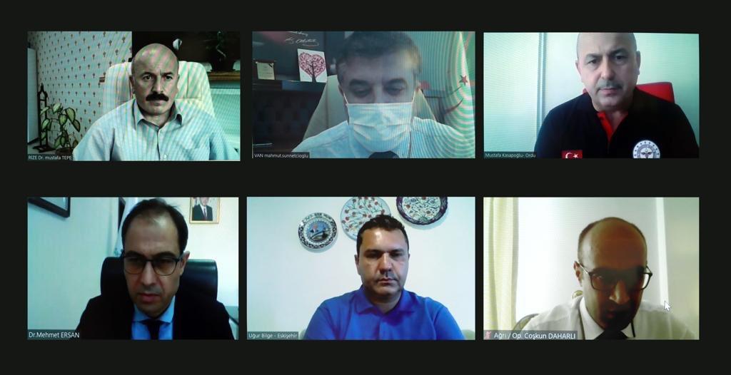 Bakan Koca, 6 ilin valisi ve sağlık müdürleriyle görüştü