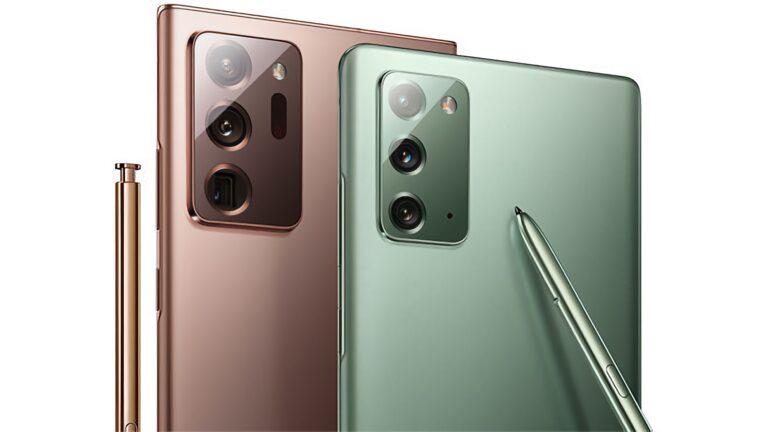 Samsung Galaxy Note 20 paramparça oldu