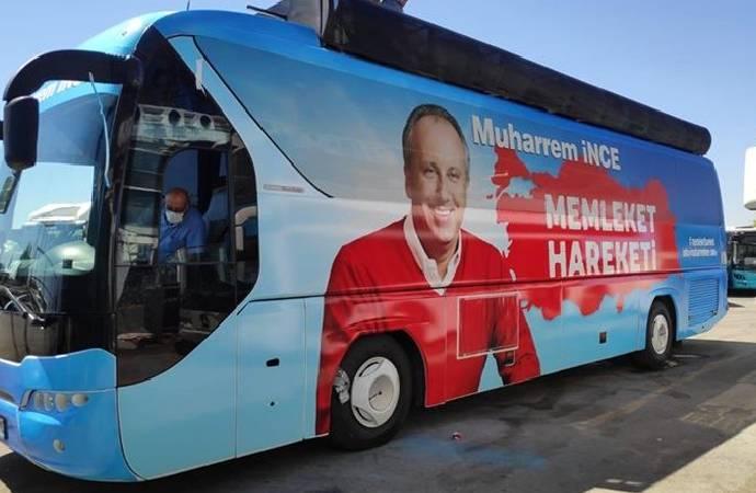 İnce'nin otobüsü ortaya çıktı!