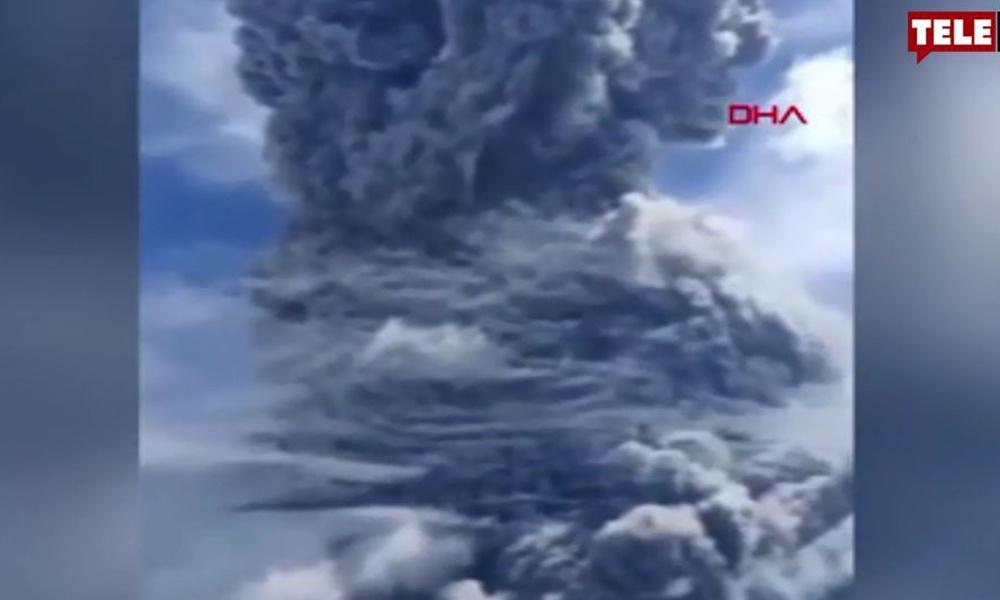 Endonezya'daki yanardağ üç gün içinde ikinci kez patladı