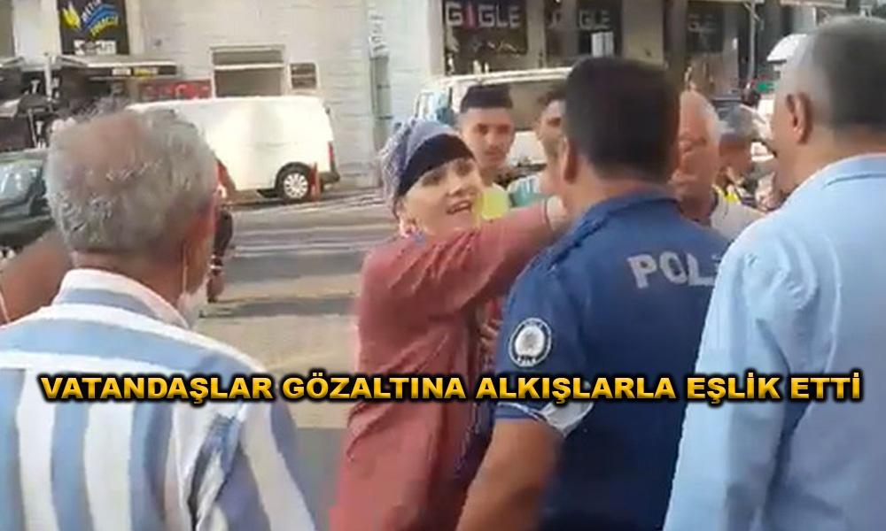 Atatürk'ü sevmiyorum diye sokakta aralıksız bağıran kadın polisler tarafından gözaltına alındı!