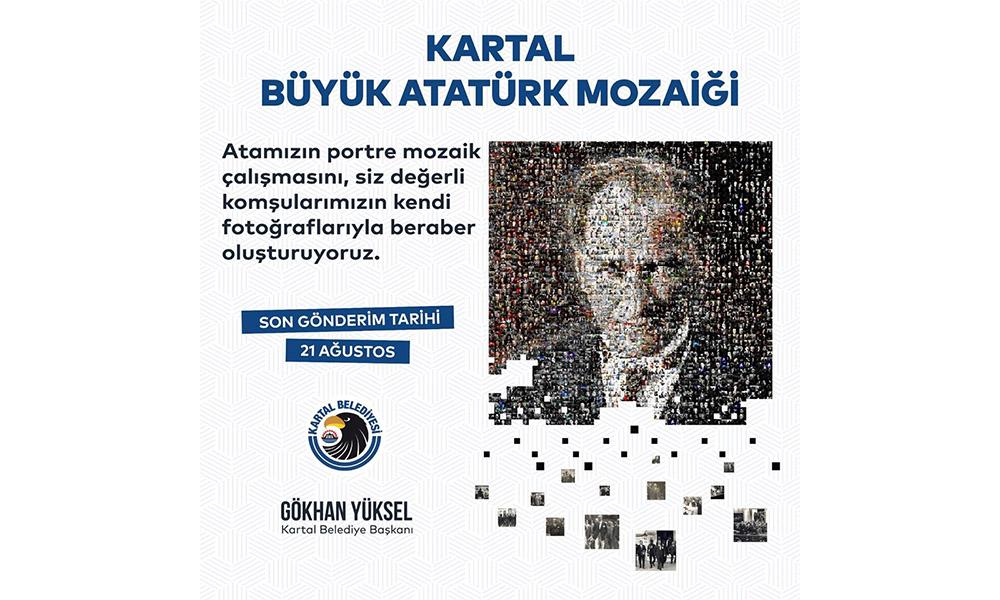 Belediye Binası, vatandaşların fotoğraflardan oluşturulacak Atatürk portresi ile kaplanıyor