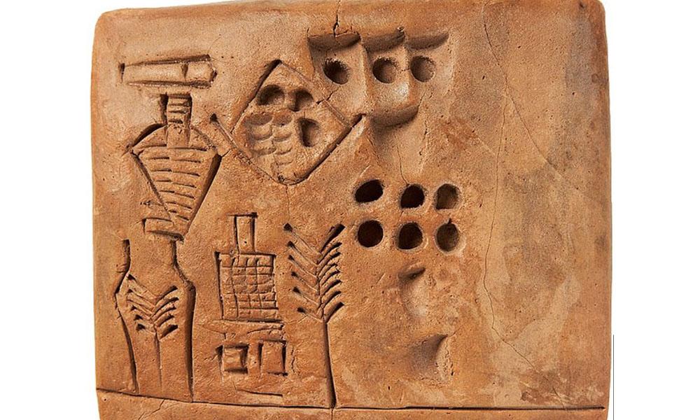 Tarihteki 'ilk imzayı' içeren 5 bin yıllık tablet 175 bin sterline satıldı