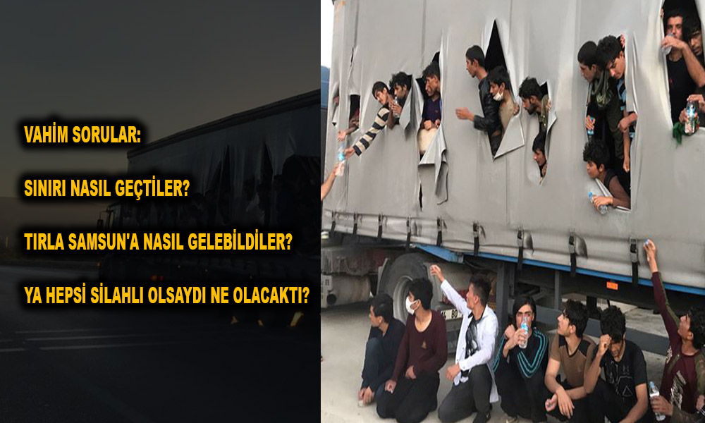 Sınırlar kevgire dönmüş! Samsun'da bir tır dolusu kaçak sığınmacı…