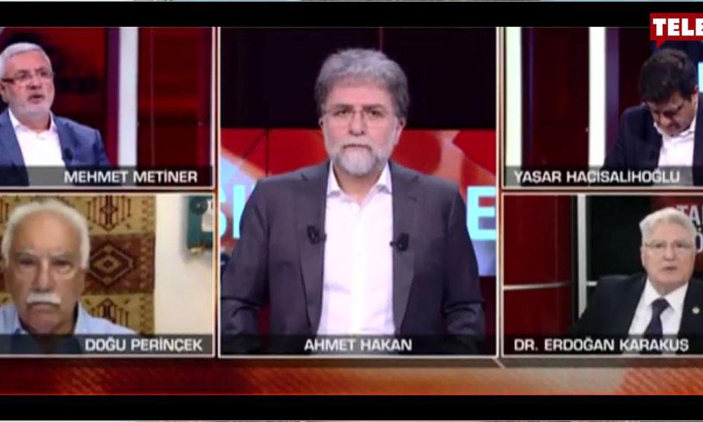 CNN Türk canlı yayınında ortalık karıştı! Ahmet Hakan şaştı kaldı