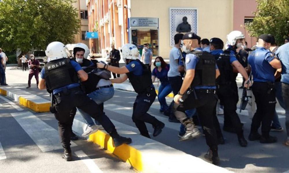 Ölüm orucu eylemine polisten sert müdahale! Çok sayıda gözaltı var
