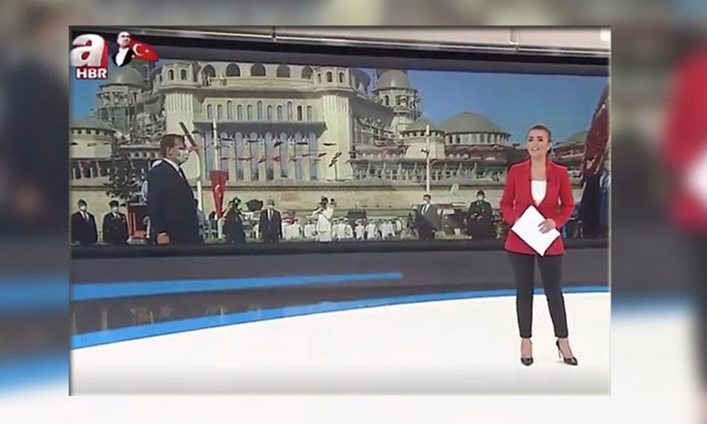 Yandaş A Haber'den 30 Ağustos'ta İmamoğlu'na büyük saygısızlık!