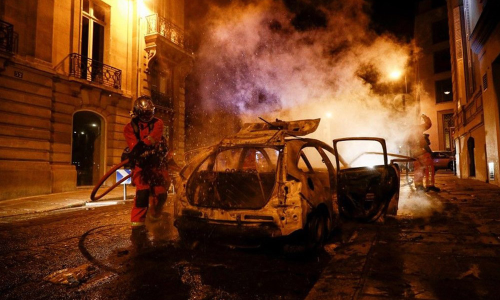 Şampiyonlar Ligi Finali sonrası Paris savaş alanına döndü! 108 gözaltı