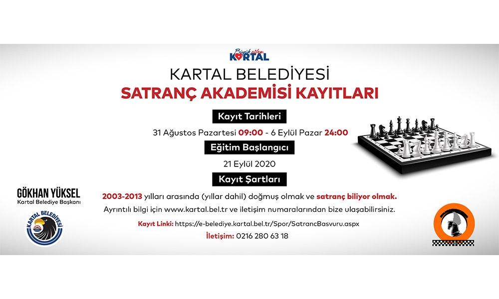 Kartal Belediyesi Satranç Akademisi yeni üyelerini bekliyor