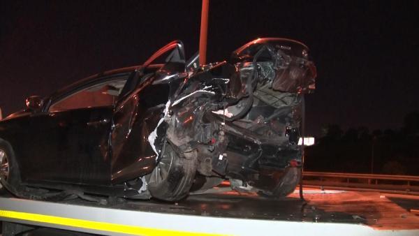TEM otoyolunda zincirleme trafik kazası