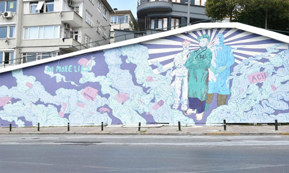 Beşiktaş'ta sağlık emekçilerine teşekkür çalışması