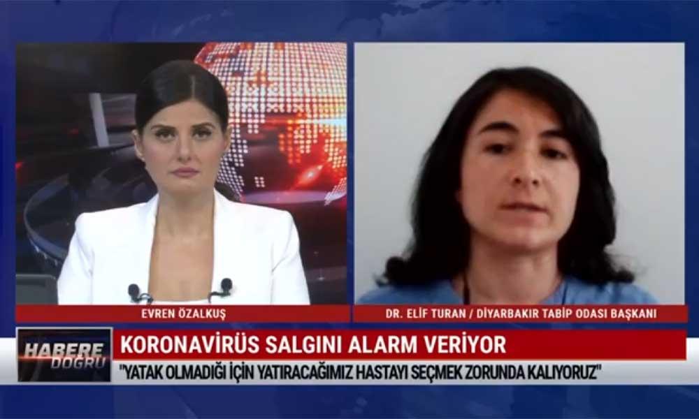 """""""Diyarbakır'da günlük 400-500 vaka var; Sağlık Bakanlığı'nın açıkladığı verilerle uyuşmuyor"""""""